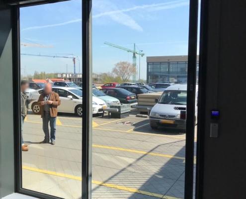 Automatische schuifdeur VinFlex mediabedrijf Amsterdam