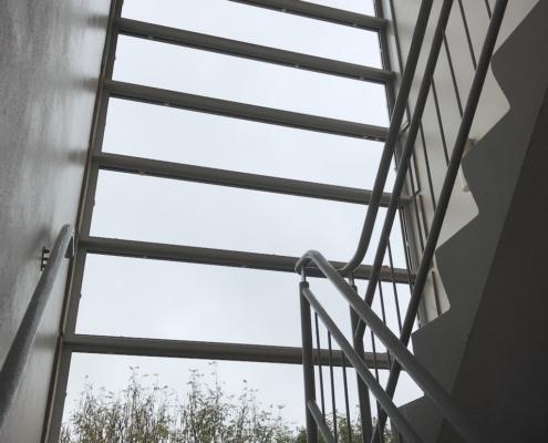 Vast glas VinFlex - gevel & trappenhuis Appartementencomplex Apeldoorn